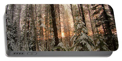 Sun Of Winter Trees Portable Battery Charger