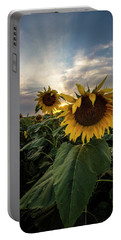 Portable Battery Charger featuring the photograph Sun Rays  by Aaron J Groen