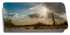 Portable Battery Charger featuring the photograph Sun Rays In Tucson by Dan McManus