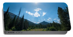 Sun Rays In Yellowstone  Portable Battery Charger