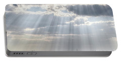 Sun Rays Over Lagoon Portable Battery Charger