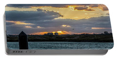 Sun Rays Over The Intracoastal  Portable Battery Charger