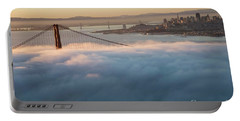 Portable Battery Charger featuring the photograph Sun Rise At Golden Gate Bridge by David Bearden