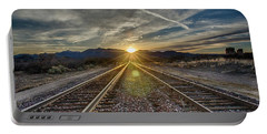 Sun Sets At The End Of The Line Portable Battery Charger
