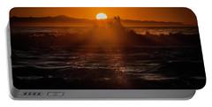 Sun Setting Behind Santa Cruz Island Portable Battery Charger