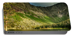 Sun Shining On Chimney Pond  Portable Battery Charger by Elizabeth Dow