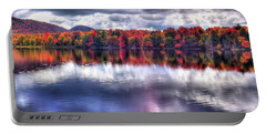 Portable Battery Charger featuring the photograph Sun Streaks On West Lake by David Patterson
