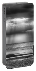 Sun Through The Clouds Bw 11x14 Portable Battery Charger