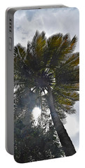 Sun Through The Palm Portable Battery Charger by Gary Smith