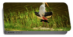 Sunbathing Delta-winged Painted Stork  Portable Battery Charger