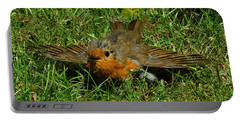 Sunbathing Robin Portable Battery Charger