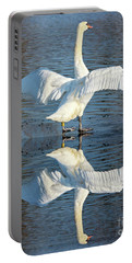 Sunbathing Swans Portable Battery Charger