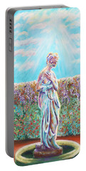 Portable Battery Charger featuring the painting Sunbeam by Elizabeth Lock