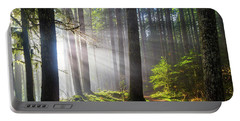 Sunbeams Along Hiking Trails Portable Battery Charger