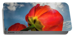Portable Battery Charger featuring the photograph Sunbeams And Tulips by Adam Romanowicz