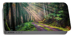 Sunbeams In Trees Portable Battery Charger
