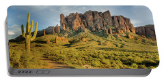Sunbreak At Lost Dutchman Portable Battery Charger by Greg Nyquist