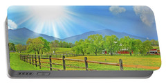 Sunburst Over Peaks Of Otter, Virginia Portable Battery Charger