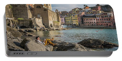 Sunday Afternoon In Vernazza Portable Battery Charger