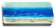 Portable Battery Charger featuring the painting Sunday At Bondi by Chris Armytage