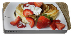 Sunday Breakfast - Food- Kitchen Art Portable Battery Charger by Anne Rodkin