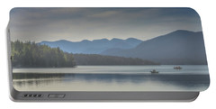 Portable Battery Charger featuring the photograph Sunday Morning Fishing by Chris Lord