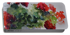 Sunday Morning Geraniums Portable Battery Charger