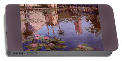 Sunday Reflections - Water Lilies Portable Battery Charger