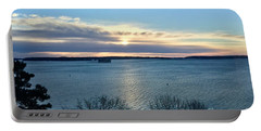 Sunday Sunrise On Casco Bay Portable Battery Charger