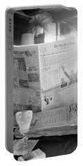 Portable Battery Charger featuring the photograph Sunday Times And Irish Coffee by Frank DiMarco