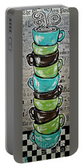 Sundays Cup A Joe Dark Roast Portable Battery Charger by Jackie Carpenter