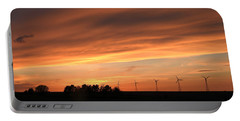 Sundown And Silhouettes Portable Battery Charger by Kathy M Krause