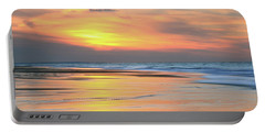 Sundown At Race Point Beach Portable Battery Charger by Roupen  Baker