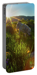 Sundown Flower Dog Portable Battery Charger by Todd Breitling