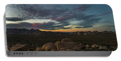 Sundown From Hilltop View Portable Battery Charger