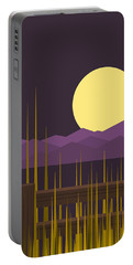 Portable Battery Charger featuring the digital art Sundown - Vertical by Val Arie
