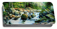 Portable Battery Charger featuring the painting Sunfish Creek by Hanne Lore Koehler