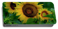 Portable Battery Charger featuring the photograph Sunflower 2017 9 by Buddy Scott