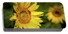 Sunflower And Bee Portable Battery Charger by Sandy Molinaro
