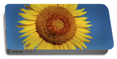 Sunflower And Blue Sky Portable Battery Charger by Nancy Landry
