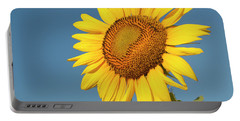 Sunflower And Blue Sky Portable Battery Charger by Phyllis Peterson