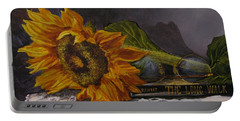 Sunflower And Book Portable Battery Charger