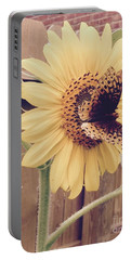 Sunflower And Butterfly Portable Battery Charger