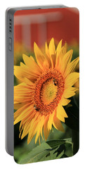 Sunflower And Red Barn Portable Battery Charger