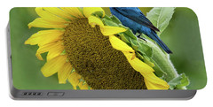 Sunflower Blue Portable Battery Charger