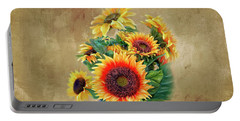 Sunflower Bouqet Portable Battery Charger by Mary Timman