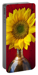 Sunflower Close Up Portable Battery Charger