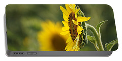 Sunflower Delight Portable Battery Charger by Kathy Churchman