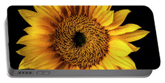 Sunflower Dew Covered Portable Battery Charger