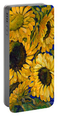 Sunflower Faces Portable Battery Charger